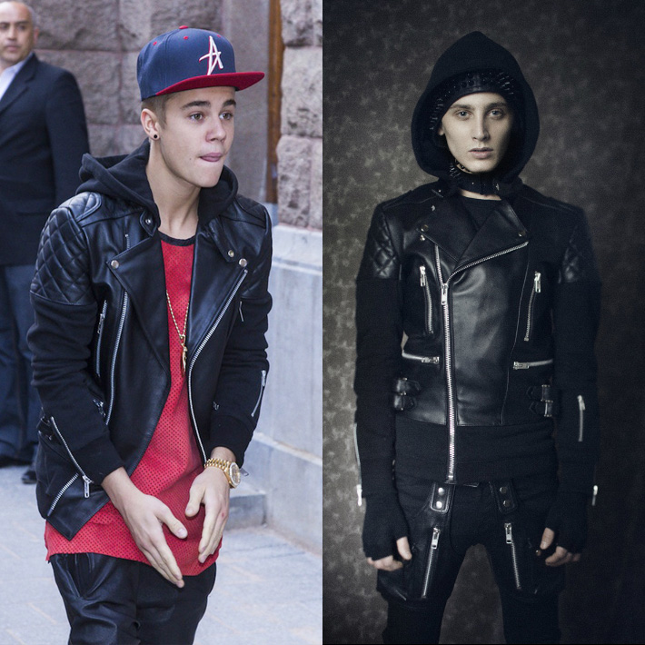 『Justin Bieber x 99%IS-』レザーライダースジャケット