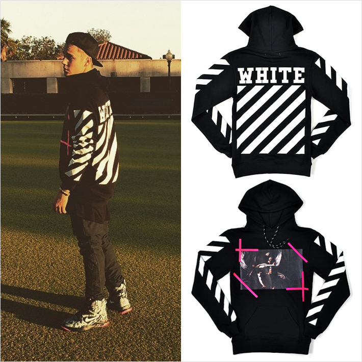 『Justin Bieber』インスタグラムの写真で『OFF-WHITE』のパーカーを着用