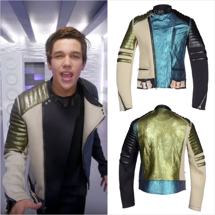 Austin Mahone – Mmm Yeah ft. PitbullのPVで3.1 Phillip Limのジャケットを着用