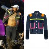 マカオのライブで「クリス・ブラウン」が新作2015A/W「ハウスオブホランド」のデニムジャケットを着用