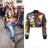 リタ・オラのインスタグラムから『MOSCHINO (モスキーノ)』の15AWコレクションのジャケットを着用