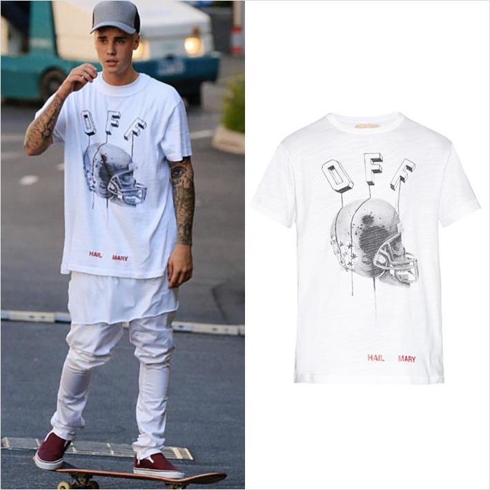 Justin Bieber オフホワイト着用