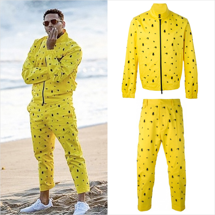 「Chris Brown x Dsquared2」Do It Againのミュージックビデオでセットアップで着用