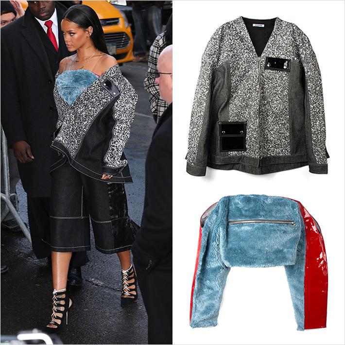 ロンドンの新鋭ブランド「JULIA SEEMANN」、「リアーナ」がニューヨークファッションウィークの会場に着用して登場