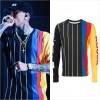 「クリス・ブラウン」ライブで「オープニング・セレモニー」のストライプTシャツを着用