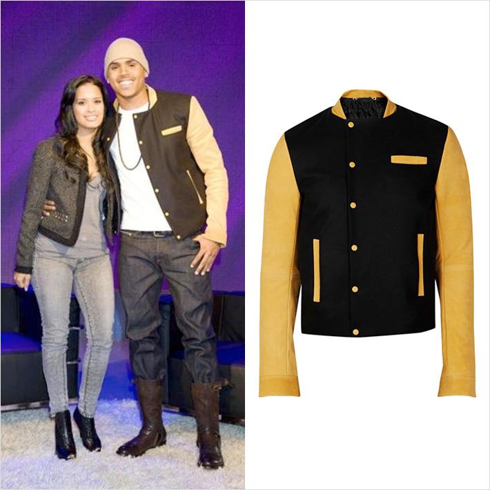 クリス・ブラウンの懐かしのスタイル「BALENCIAGA(バレンシアガ)」の名作スリーブレザージャケットを着用