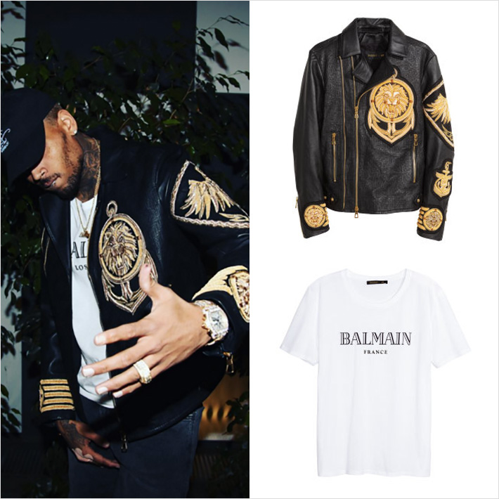 BALMAIN x H&M x Chris Brown