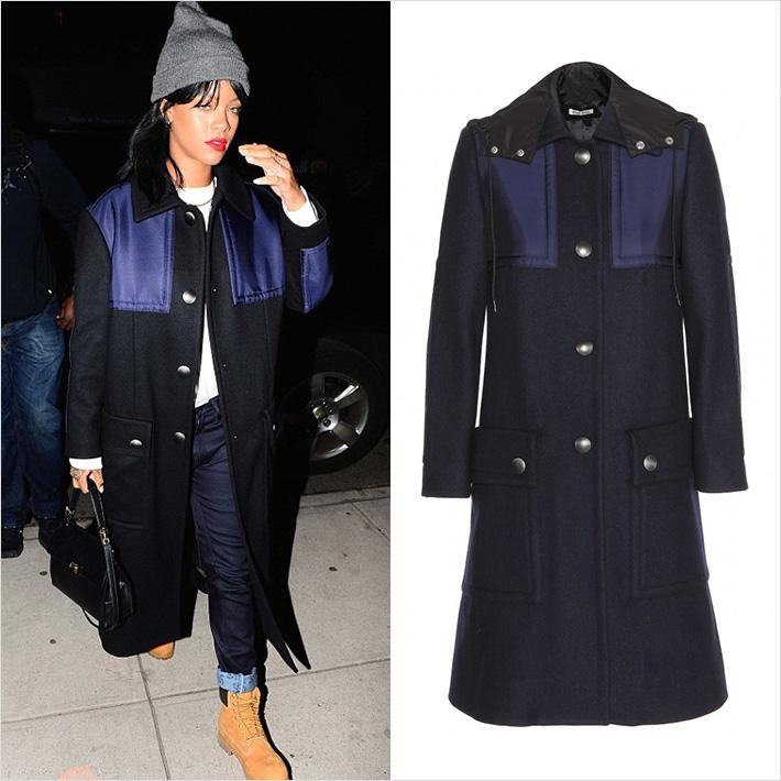 Rihanna miu miu Coat