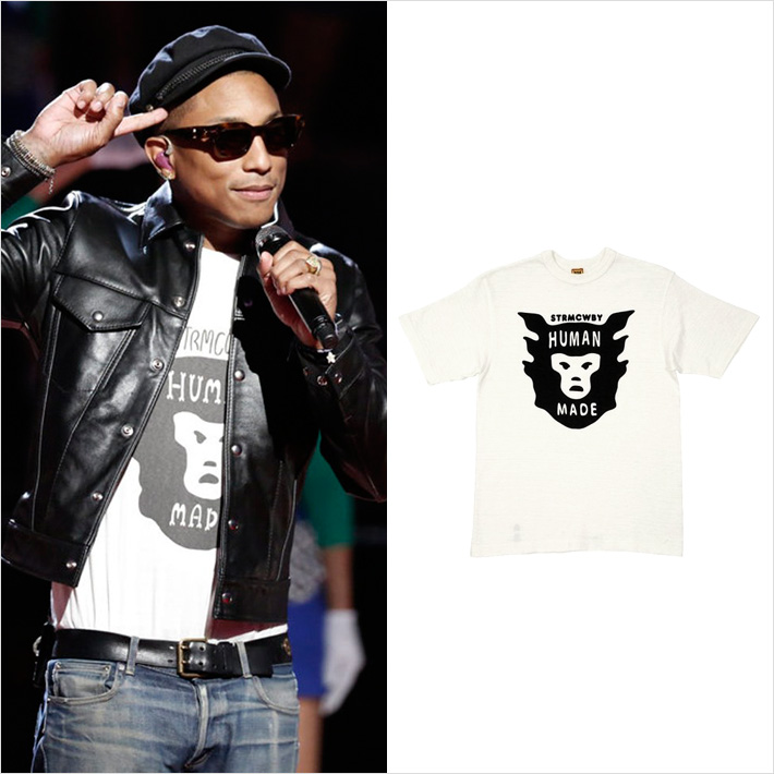ファレル・ウィリアムス、NIGO®氏がデザインする「HUMAN MADE」のTシャツを愛用