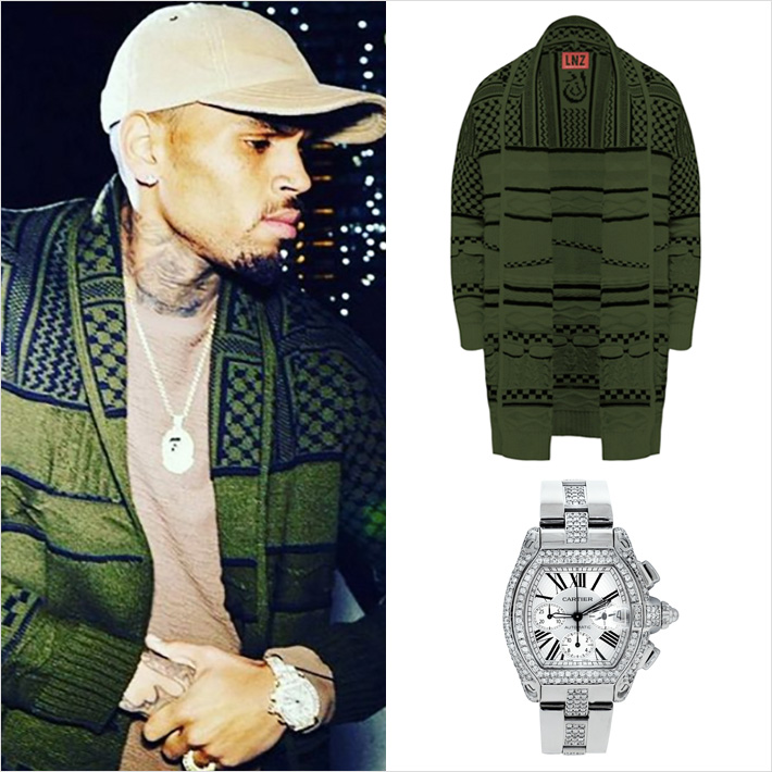 Chris Brown LNZ ニット着用