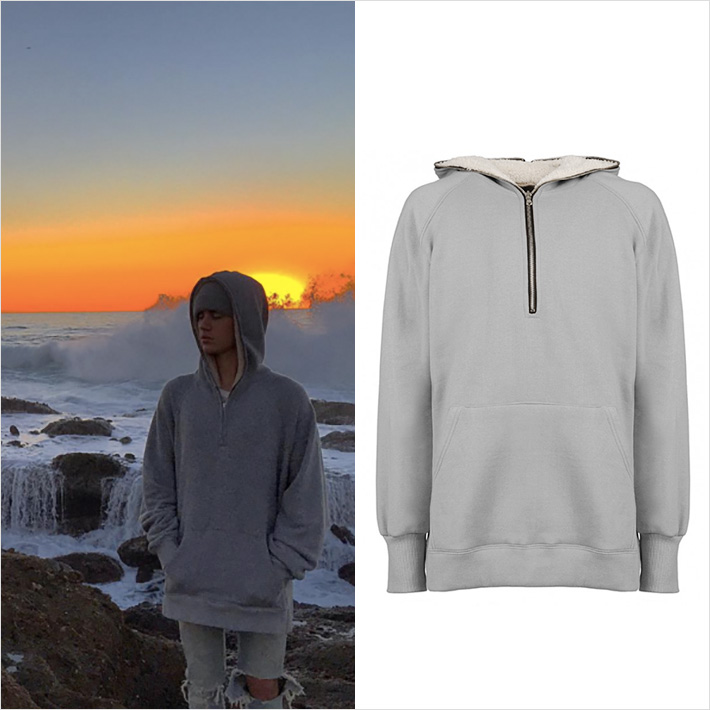 Justin Bieber wear Fear Of God Hoodie