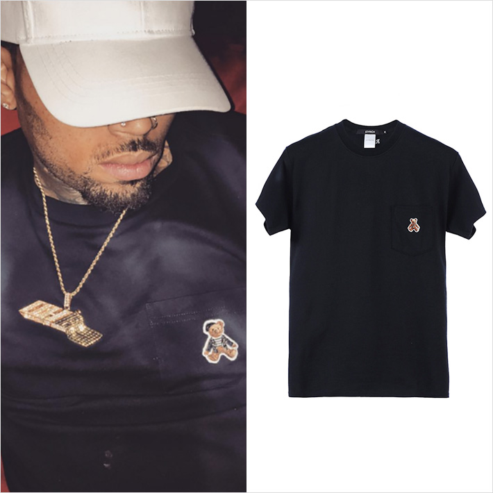 Chris Brown x Joyrich Rock Teddy Pocket Tee