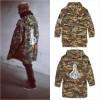 ジャスティン・ビーバー「SAINT LAURENT PARIS(サンローラン)」のオーバーサイズカモフラジャケットを着用