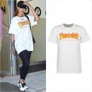 リアーナの最近のお気に入りブランドは「THRASHER」、Tシャツやパーカーを私服で愛用