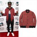 Big Sean(ビッグ・ショーン)、シュプリームのチェックジャケットを着用